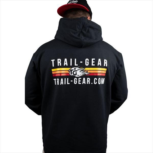 画像1: Trail Gear ストライプロゴフーディ (1)